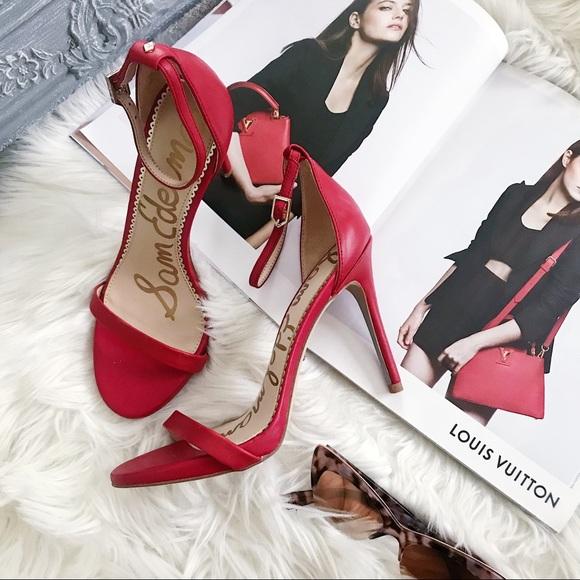 Sam Edelman Ariella Red Leather Strappy